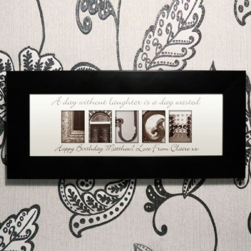 Personalised Affection Art Laugh Small Frame